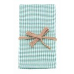 Mini Gingham  Ocean tea towels pair